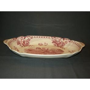 Societe Ceramique Peacock rood broodschaal