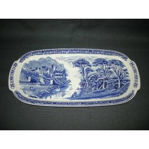Royal Sphinx Old England blauw cake-schaal