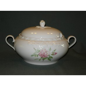 Hutschenreuther Porcelaine Rose Drache met roosdecor dekschaal