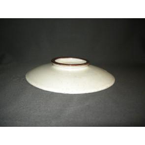Zaalberg donkerbruin / wit gespikkeld deksel O20 cm.