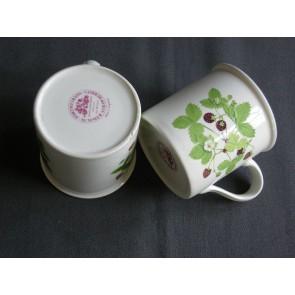 Portmeirion Summer Strawberries koffiekop & schotels met mankementjes