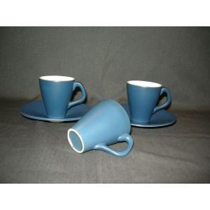 Goedewaagen Maestro matblauw espressokop & schotels