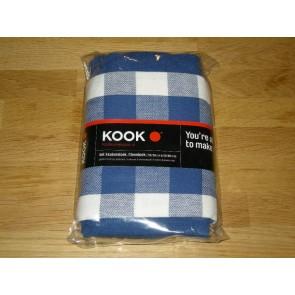 KOOK thee- en keukendoekset blauw / wit