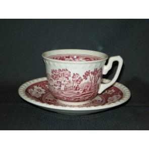 Villeroy & Boch Rusticana rood kop & schotel koffie