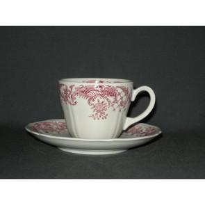 Villeroy & Boch Valeria rood koffiekop & schotel