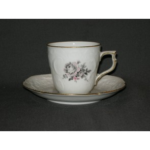 Rosenthal Sanssouci Grau Rose koffiekop & schotel