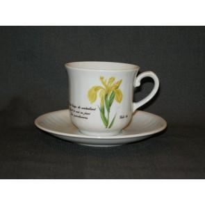 Libelle Wilde Planten kop & schotel gele lis