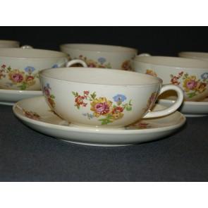 Societe Ceramique decor 3945 kop & schotels kleine beschadiging