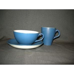 Goedewaagen Maestro matblauw koffie- en theekop & schotels
