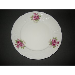 Rosenthal Sanssouci spierwit rose pioenroos ontbijtbord