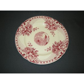 Societe Ceramique Peacock rood ontbijtbord