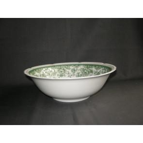 Heinrich spierwit met groen decor saladeschaal