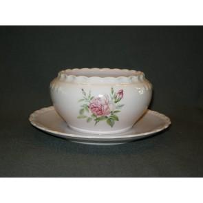 Hutschenreuther Porcelaine Rose Drache met roosdecor sauskom