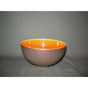 Jars Ceramistes Tourron oranje schaaltje O15,5 cm.