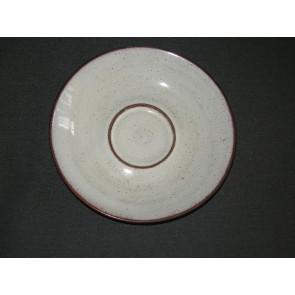 Zaalberg donkerbruin / wit gespikkeld schotel