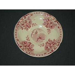 Societe Ceramique Peacock rood schotel voor kopje