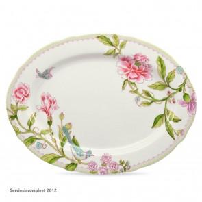 PORTMEIRION Porcelain Garden ovale (presenteer) schaal 33 x 25 cm