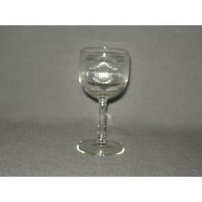 gebruikt glas rollend geld steel O5 cm.