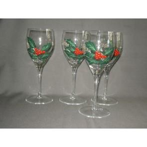 Portmeirion The Holly & the Ivy glazenset wijnglazen
